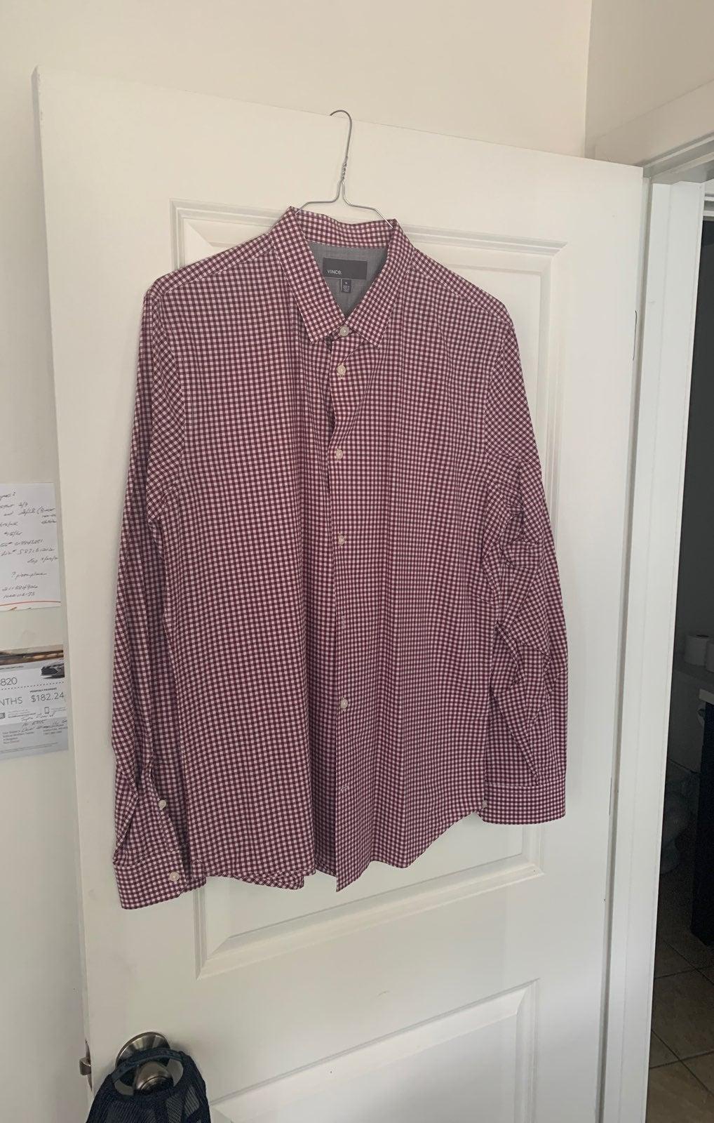 Vince Men's XL button up dress shirt Mar
