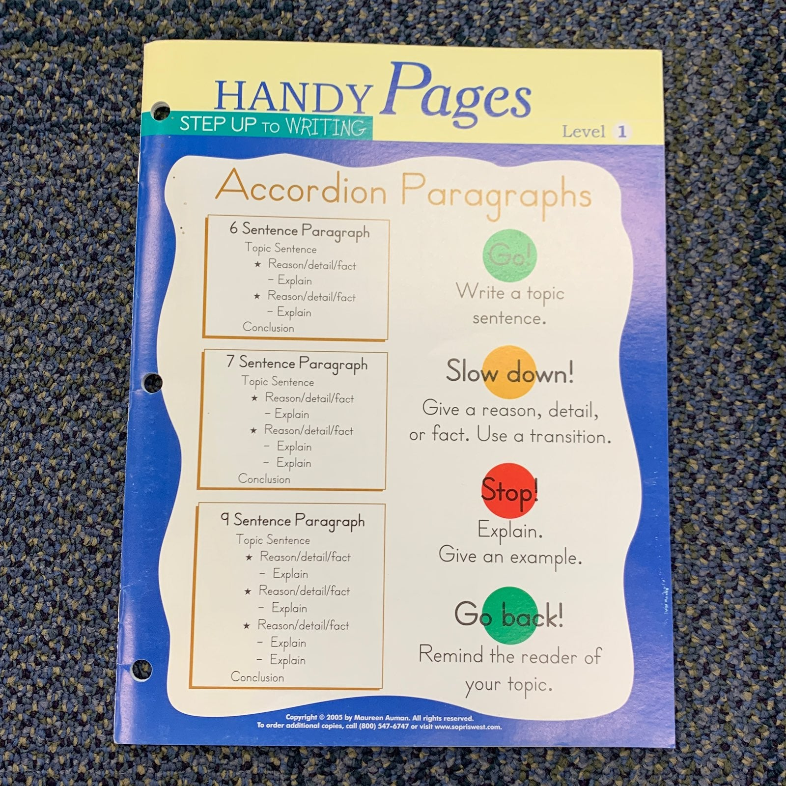Handy Pages - Step Up to Writing