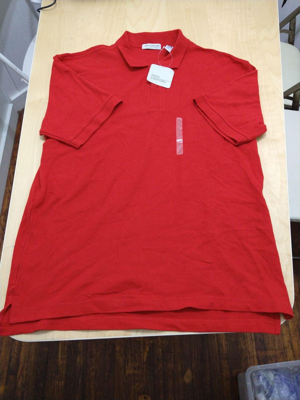 John Ashford Red Cotton Polo Shirt