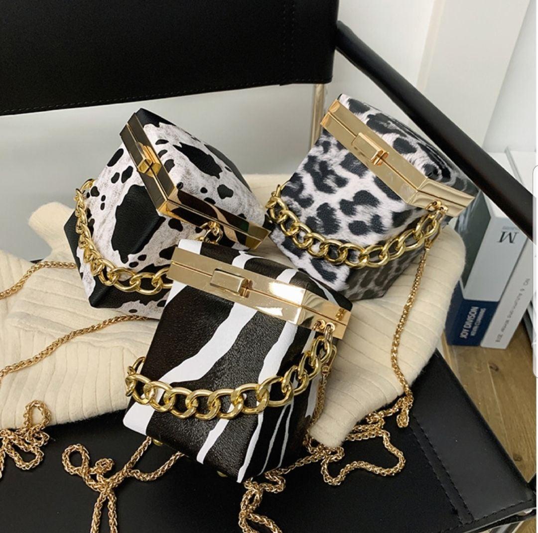 Women Evening Clutch Bag Zebra Leopard C