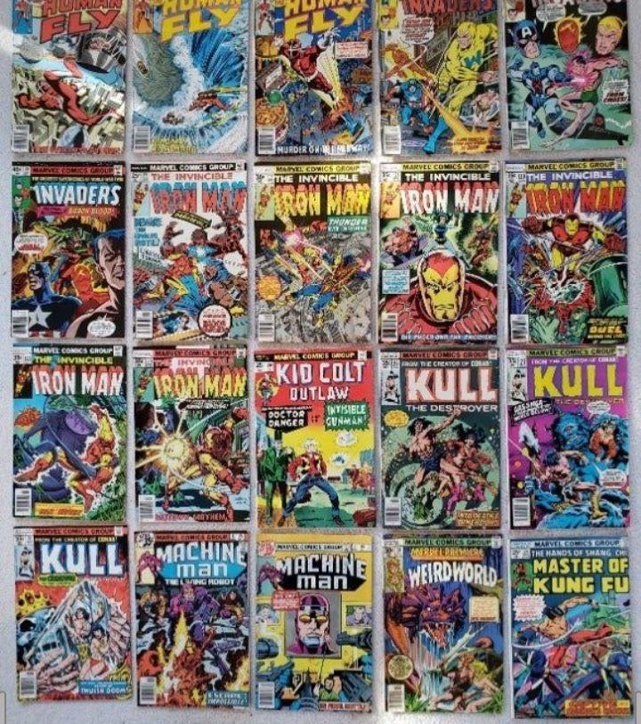 Lot of 10 Marvel Comics Bronze Age