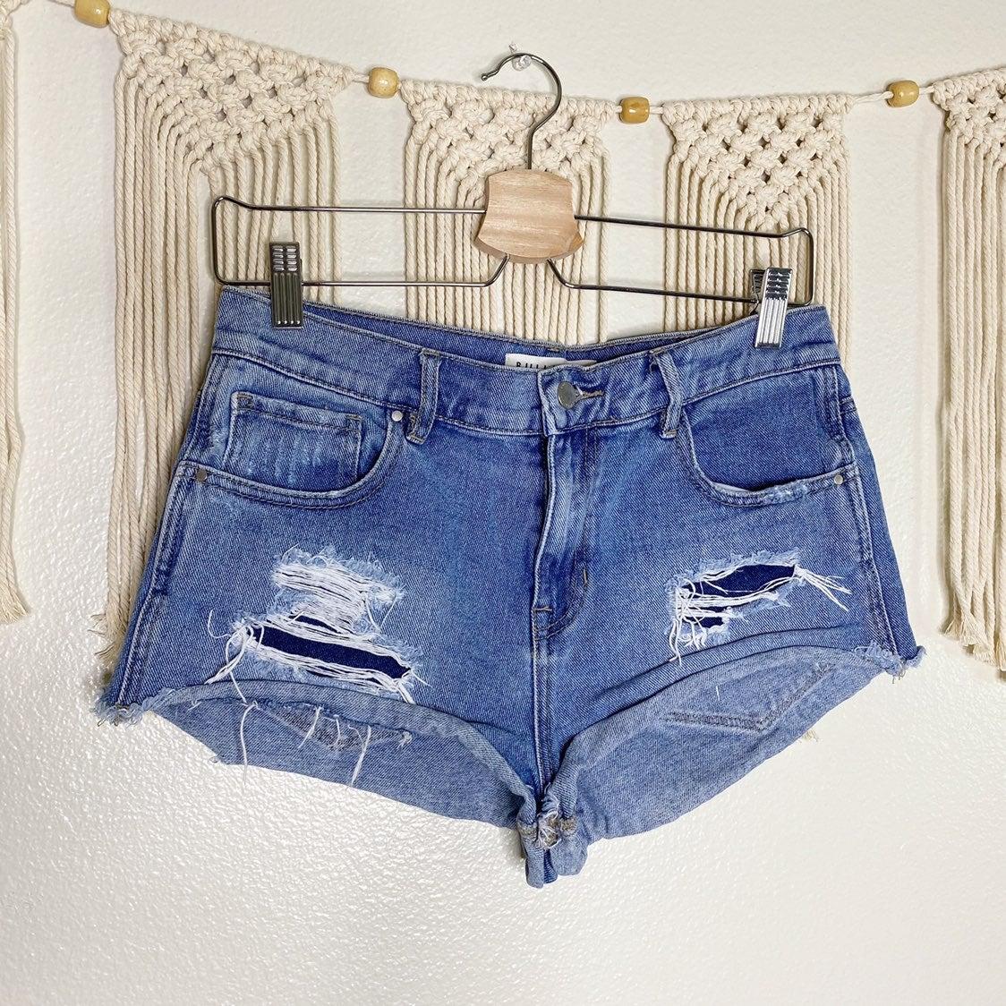 BULLHEAD high-rise distressed shorts 28