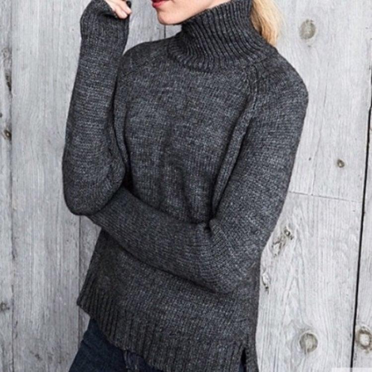 Garnet Hill women's wool blend turtlenec