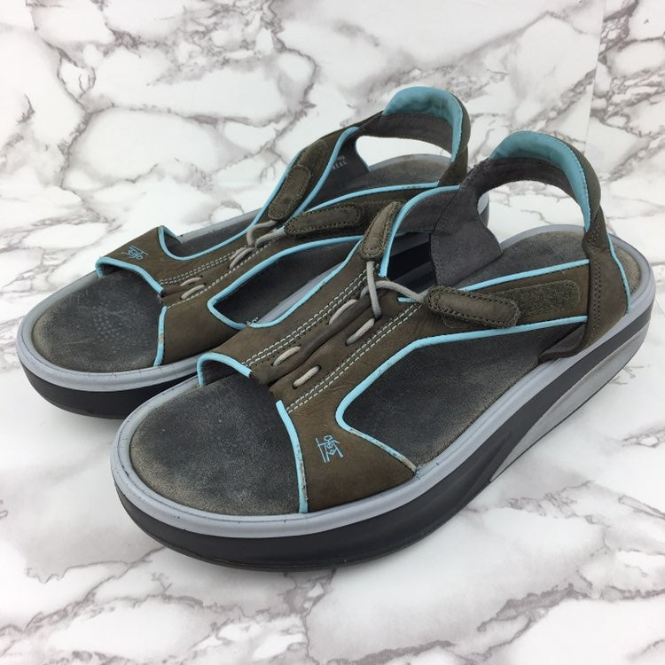 MBT Staka Sandal Beluga Brown Blue Sz 10