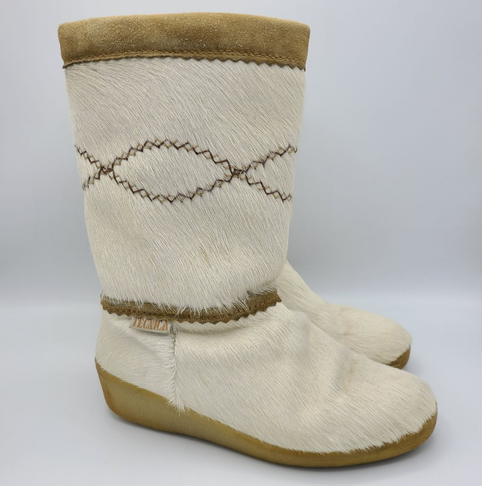 Tecnica Italy Goat Fur Leather Boots