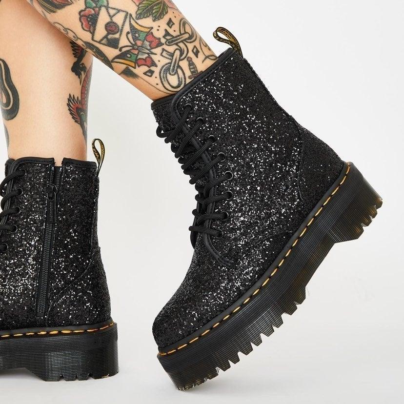 Dr. Martens Glitter Boots   Mercari