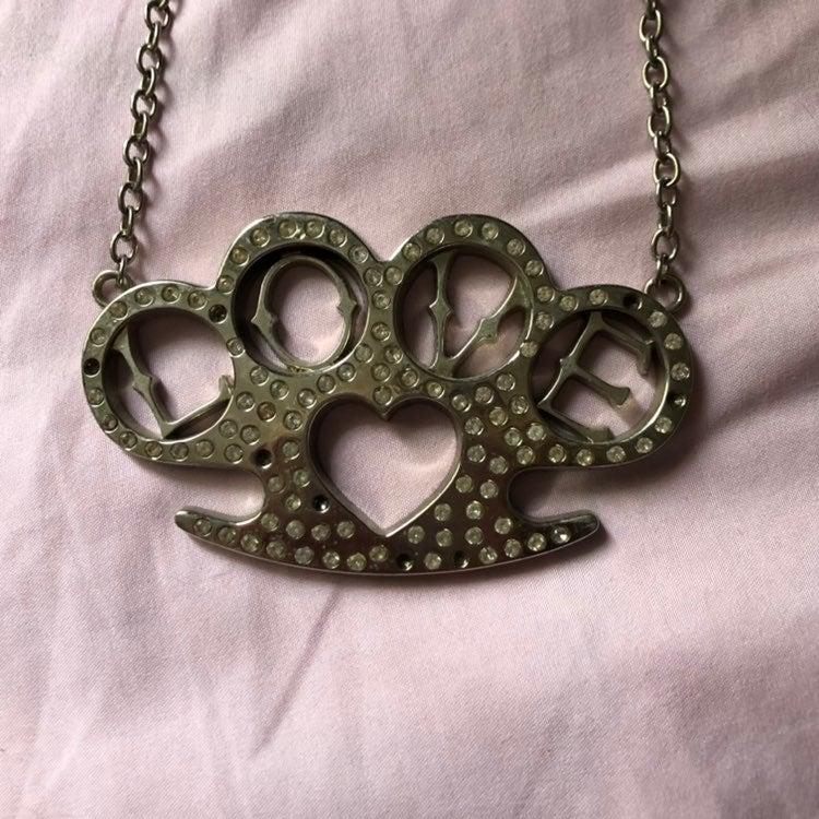 LOVE Brass Knuckles Necklace