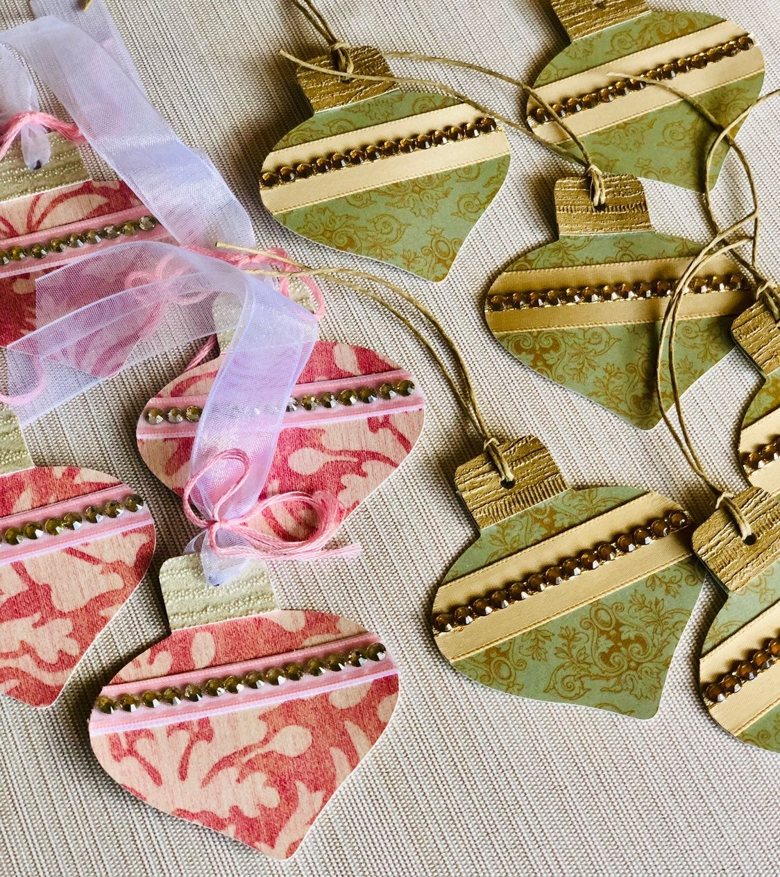 Antique Ornament Gift Tags