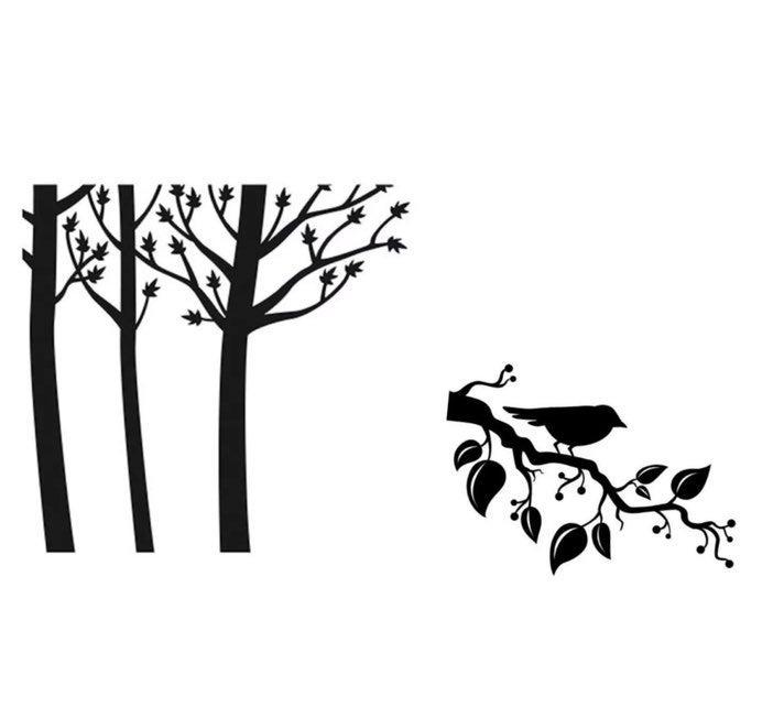2 Darcie embossing folders bird feathers