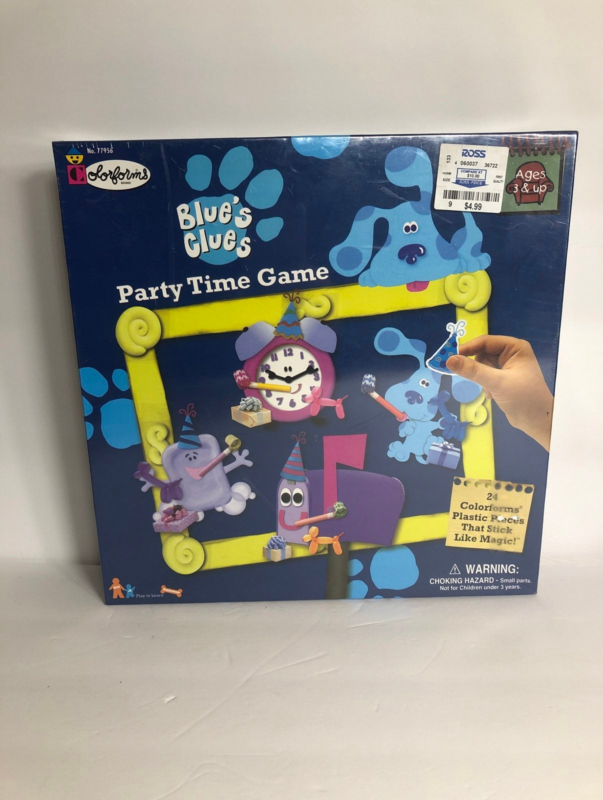 1998 Nickelodeon Blue's Clues Party Game