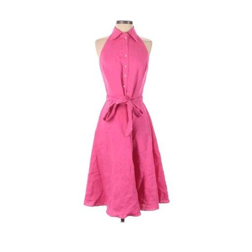Ralph Lauren Pink halter swing Dress 4