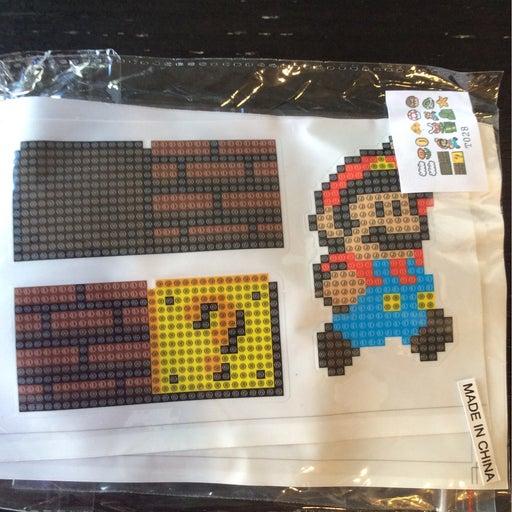 Diamond Painting Mario Stickers