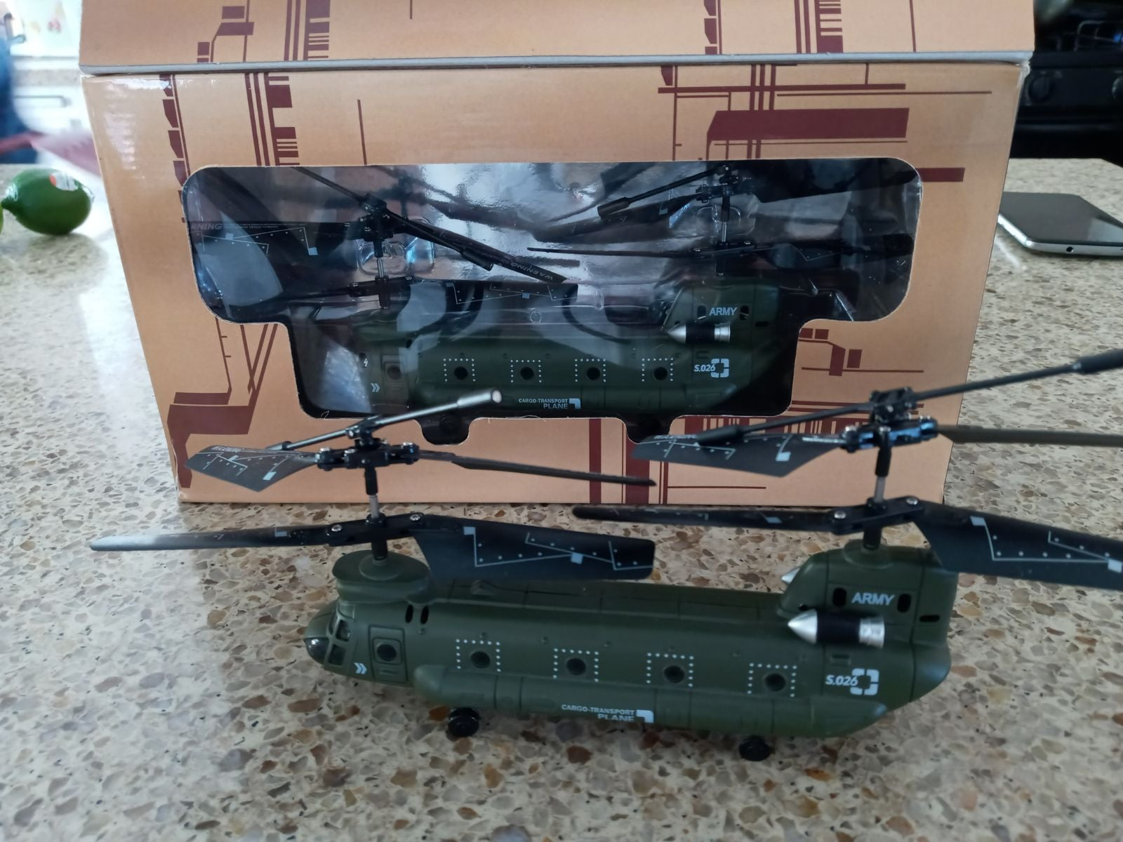 Rc chinook helicopter ready to fly