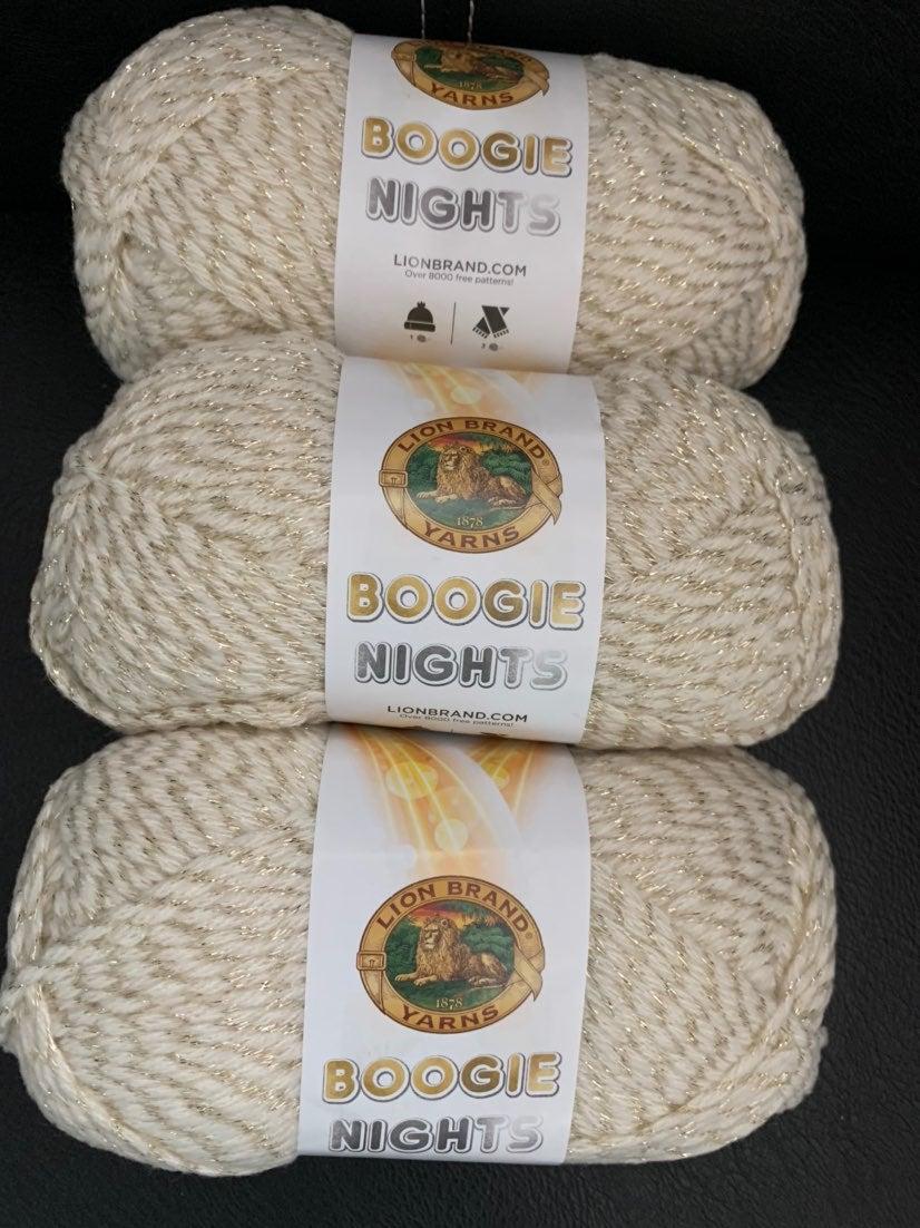 Lion Brand Boogie Nights Yarn-lot of 3