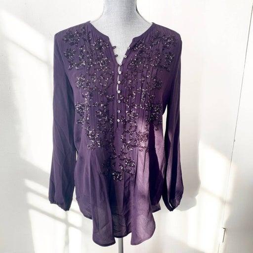 Calypso St. Barth Silk Sequin Tunic XS