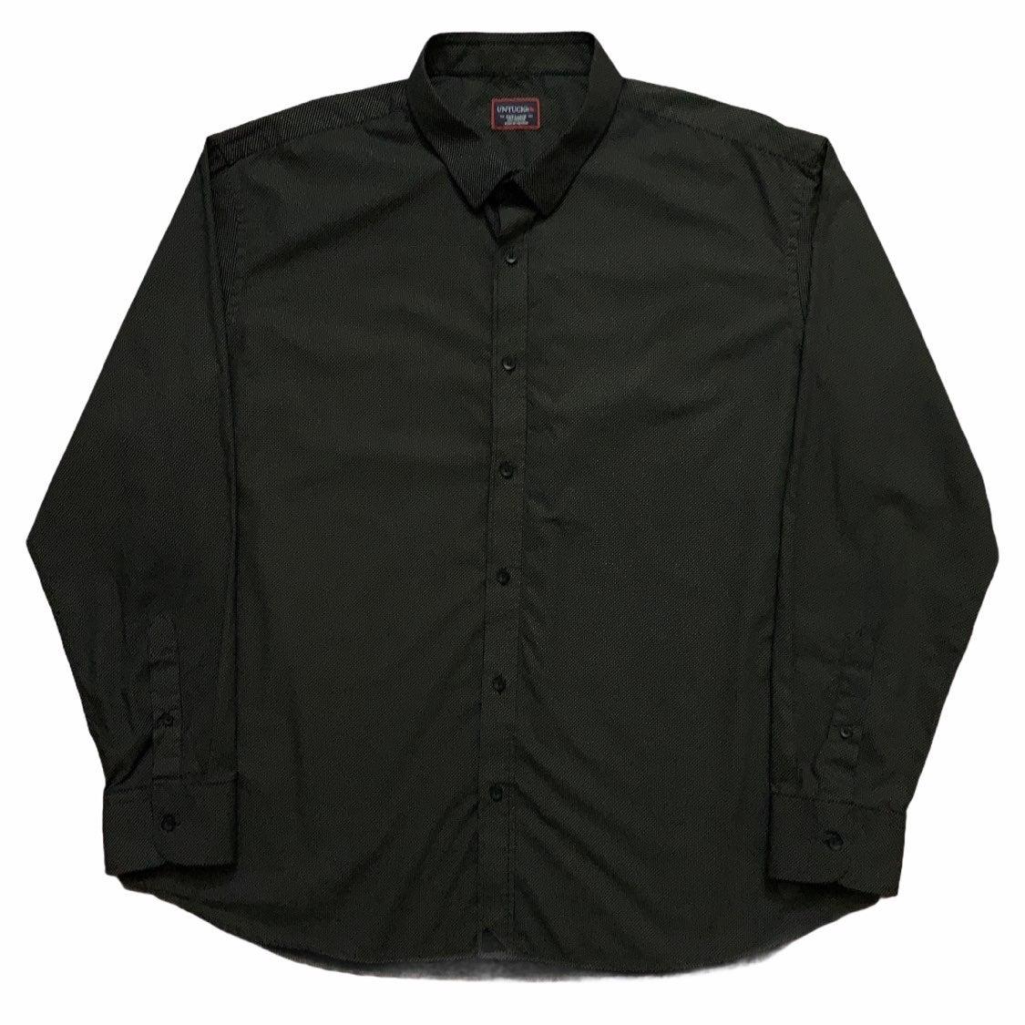 Untuckit Dress Shirt Polka Dot Black 3XL