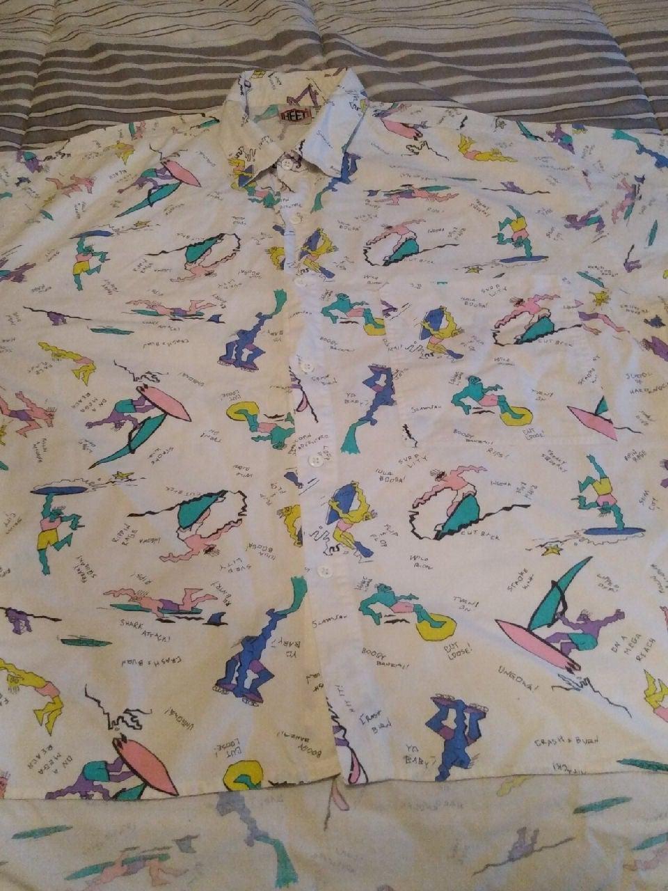 80's Heet Sportswear Surf AOP S/S Shirt