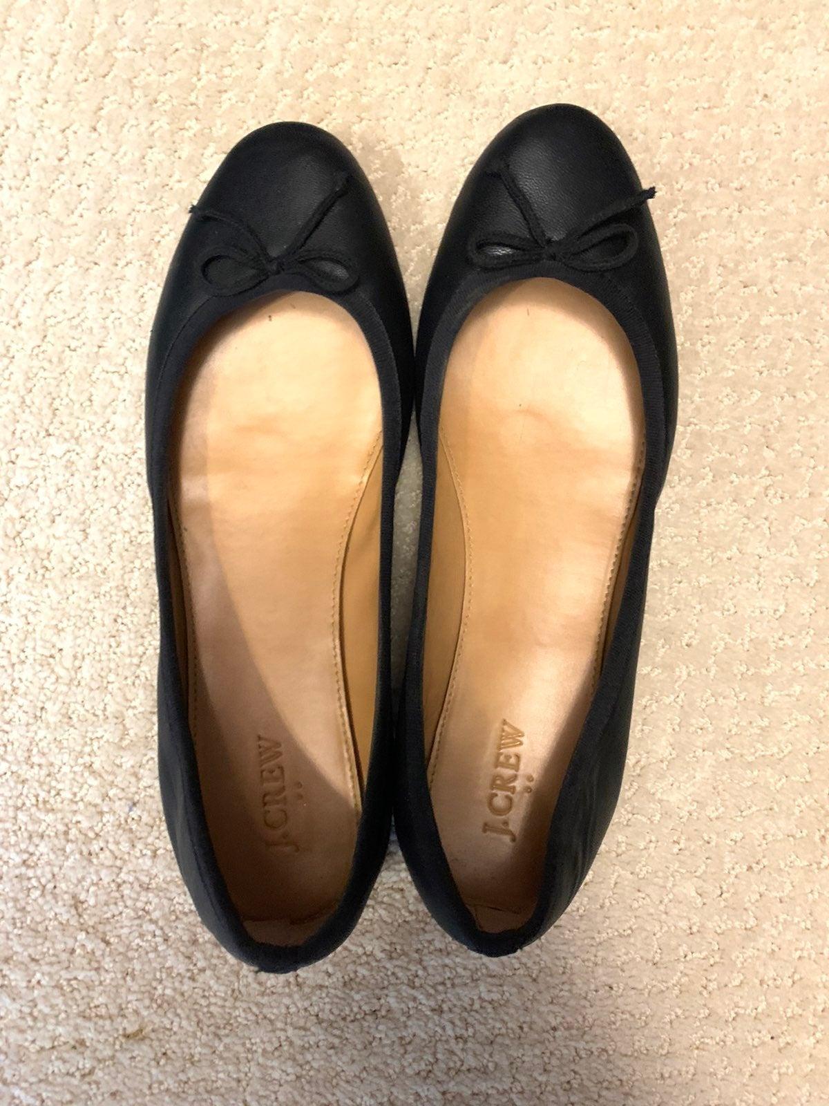 NWOT Jcrew Brenna Black Ballet Flats