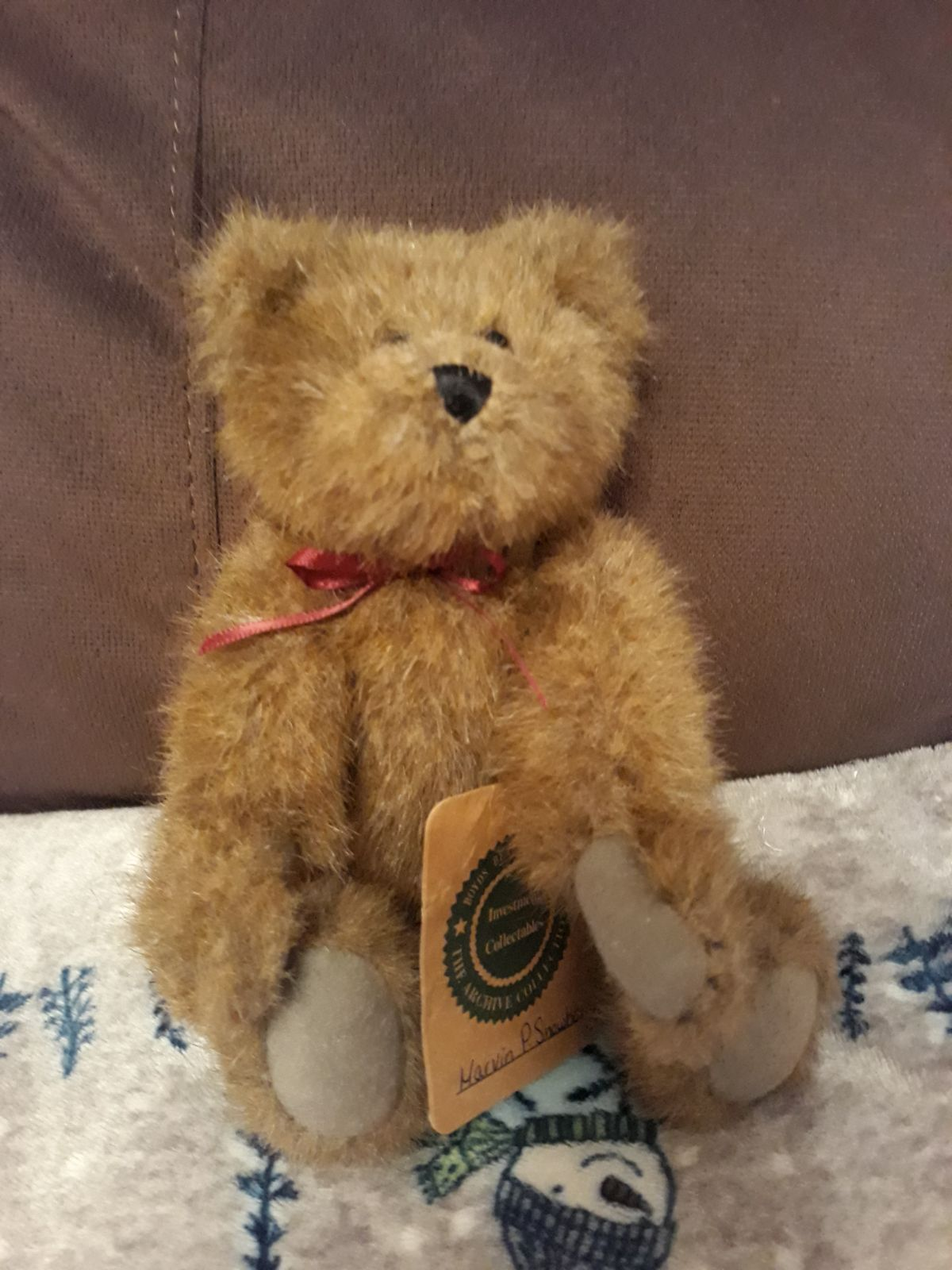 Boyd's Bear 1990s 7 Inches Furry Jointed