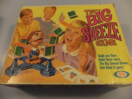 Vintage The Big Sneeze Game Ideal 1968