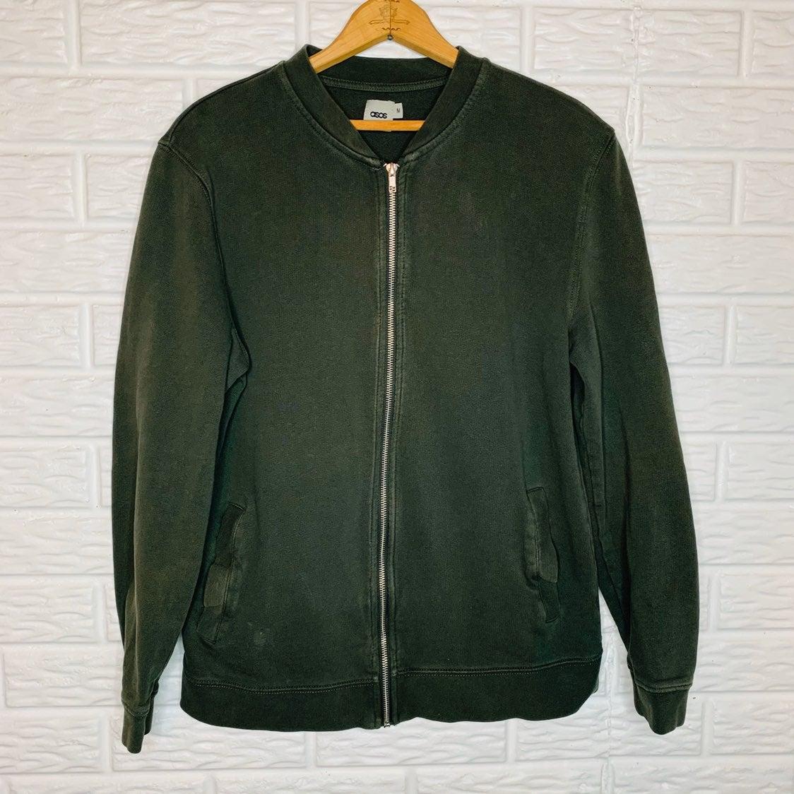 ASOS Men's Olive Green Bomber Jacket