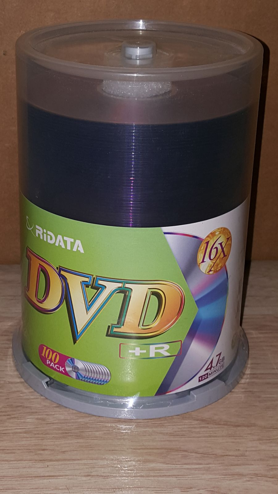 Ridata DVD +R 100 Packs 16x -4.7GB