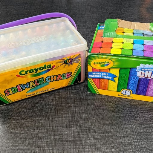 Crayola Sidewalk Chalk Bundle 100 Pieces