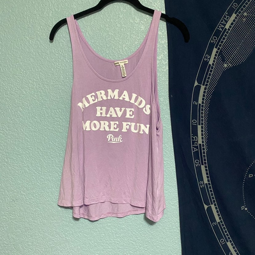 Vs pink Purple mermaids graphic Tank Top