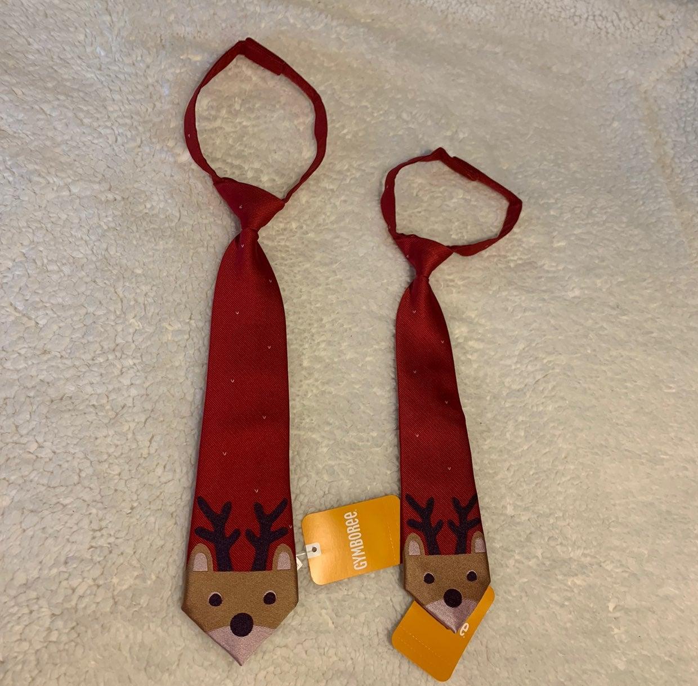 Gymboree NWT reindeer ties 2T-5T & 0-24M