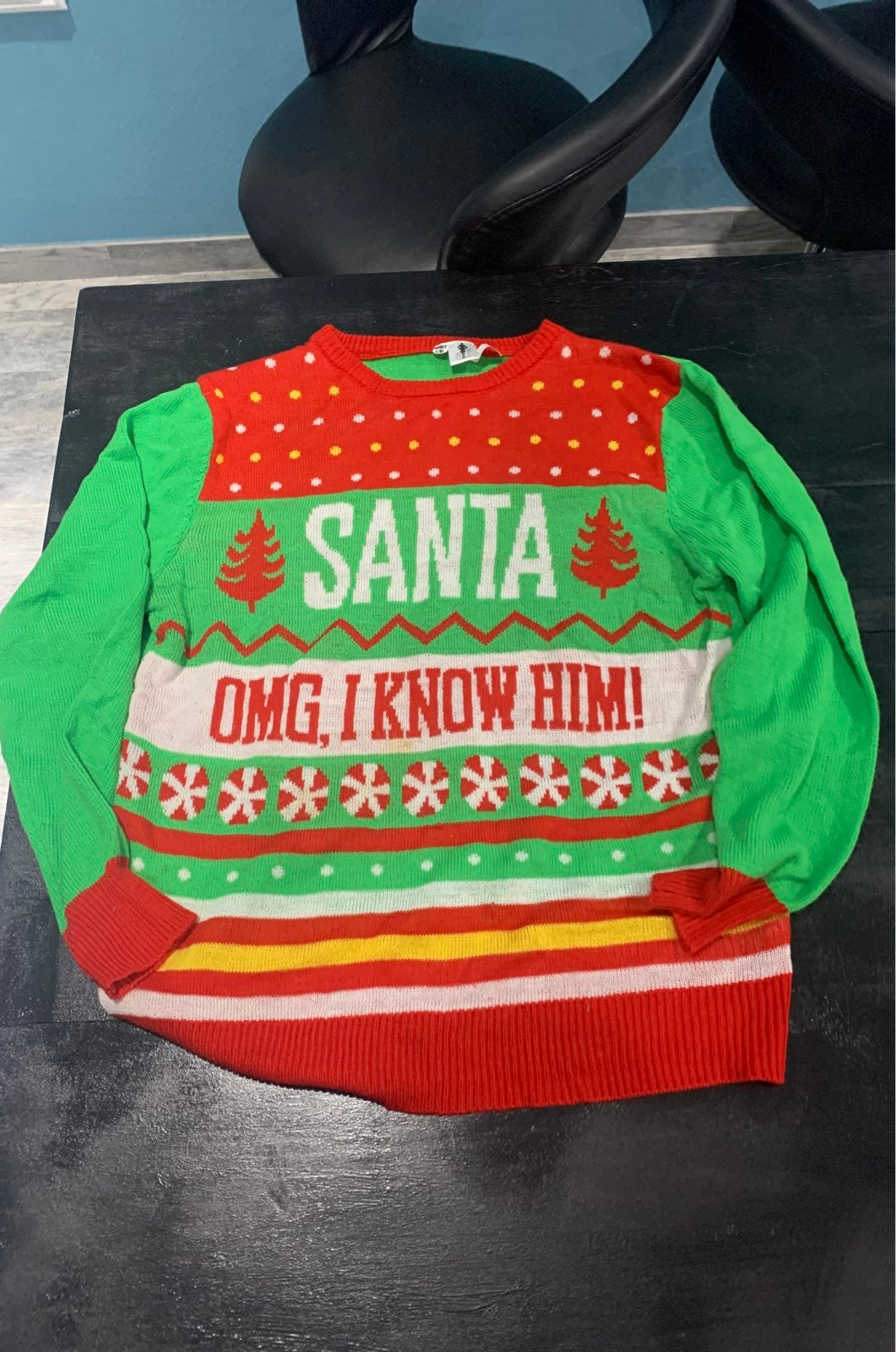 Ugly Christmas Sweater Blue