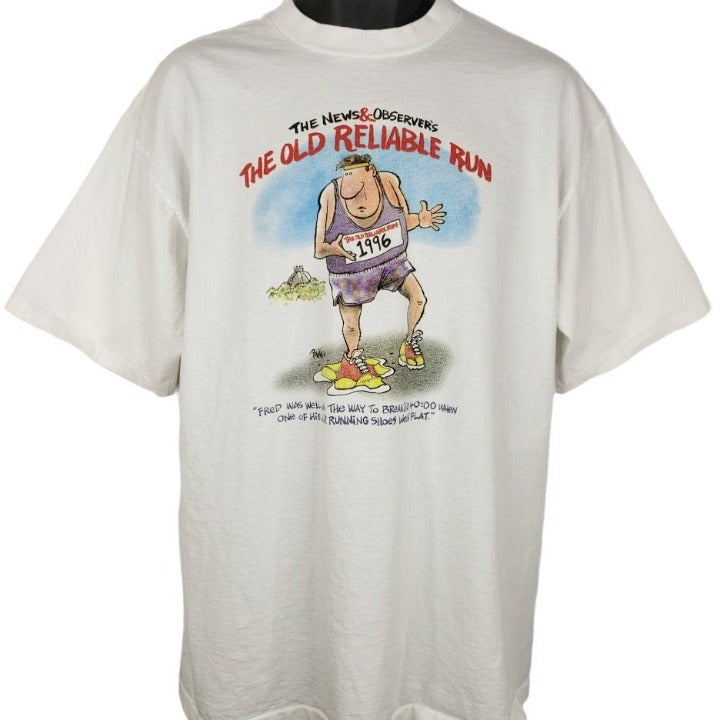 Old Reliable Run 10K T Shirt Vintage 90s