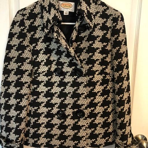 Talbots Houndstooth sz 10p Coat