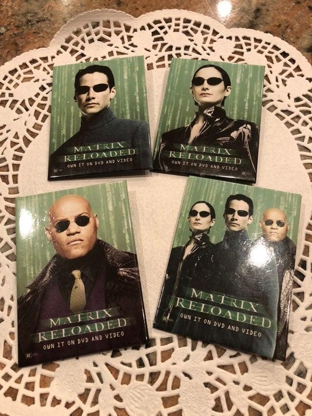 "4 Matrix Reloaded "" Neo Morpheus"" Trinit"
