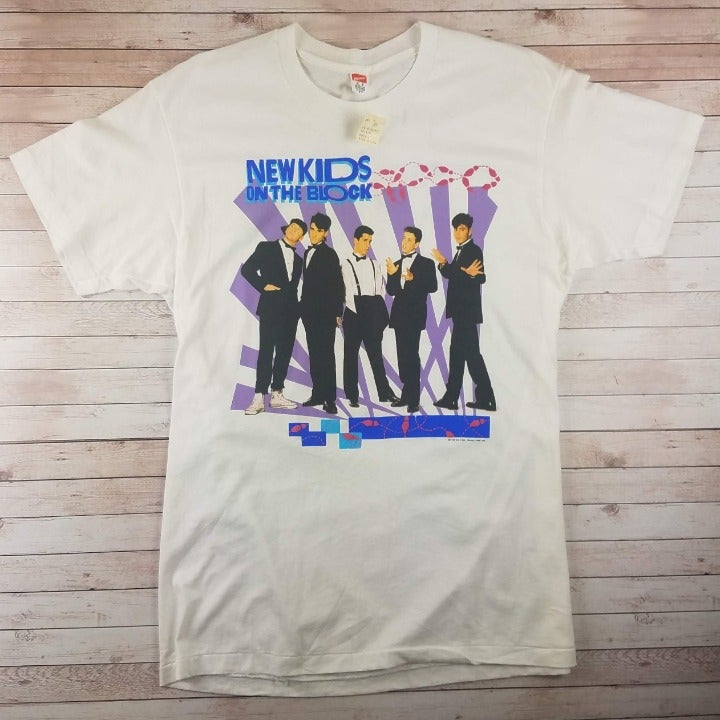 New VTG 1980s New Kinds On The Block Tee