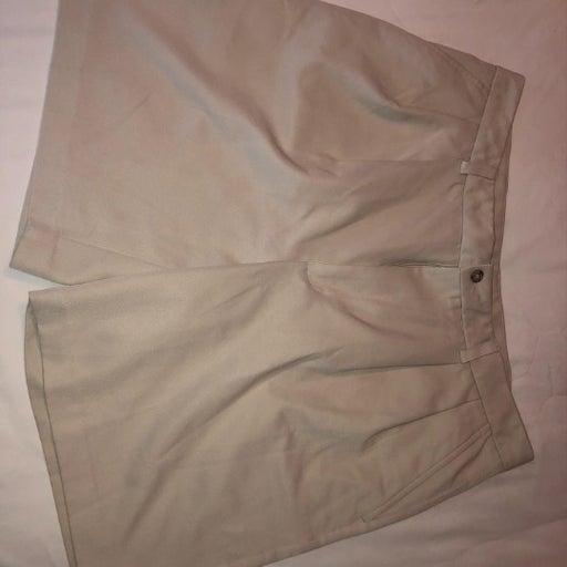 Khaki pleated Izod shorts