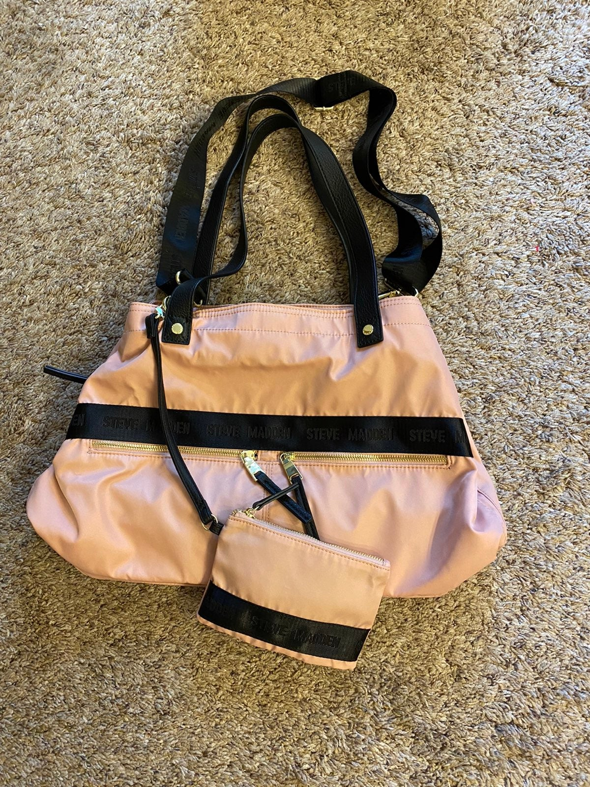 Steve Madden Blush Nylon Tote Bag