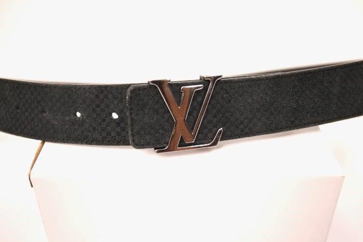 Louis Vuitton Suede Belt