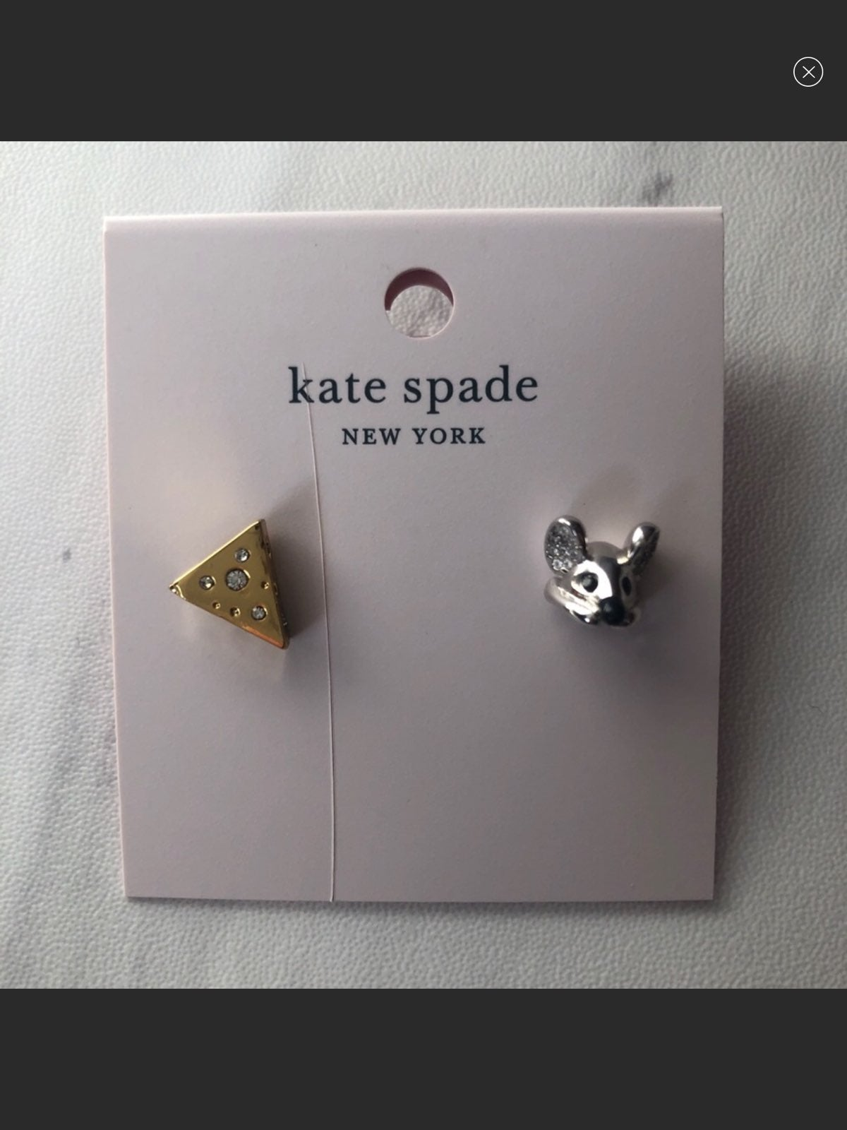 NWT Kate Spade Year of the Rat Earrings