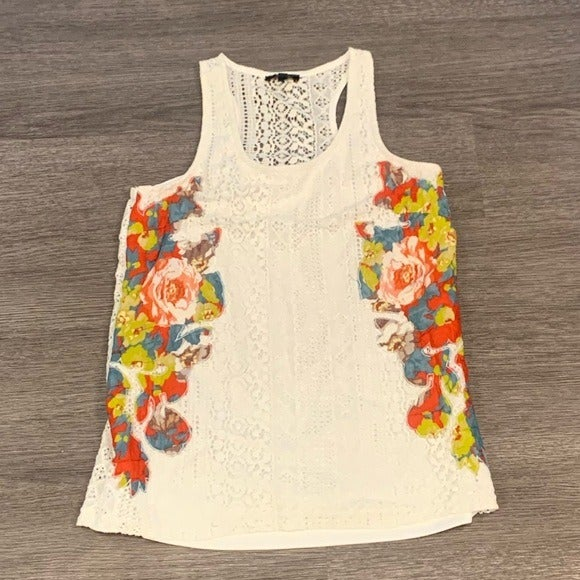 Cupio White Lace Tank Top