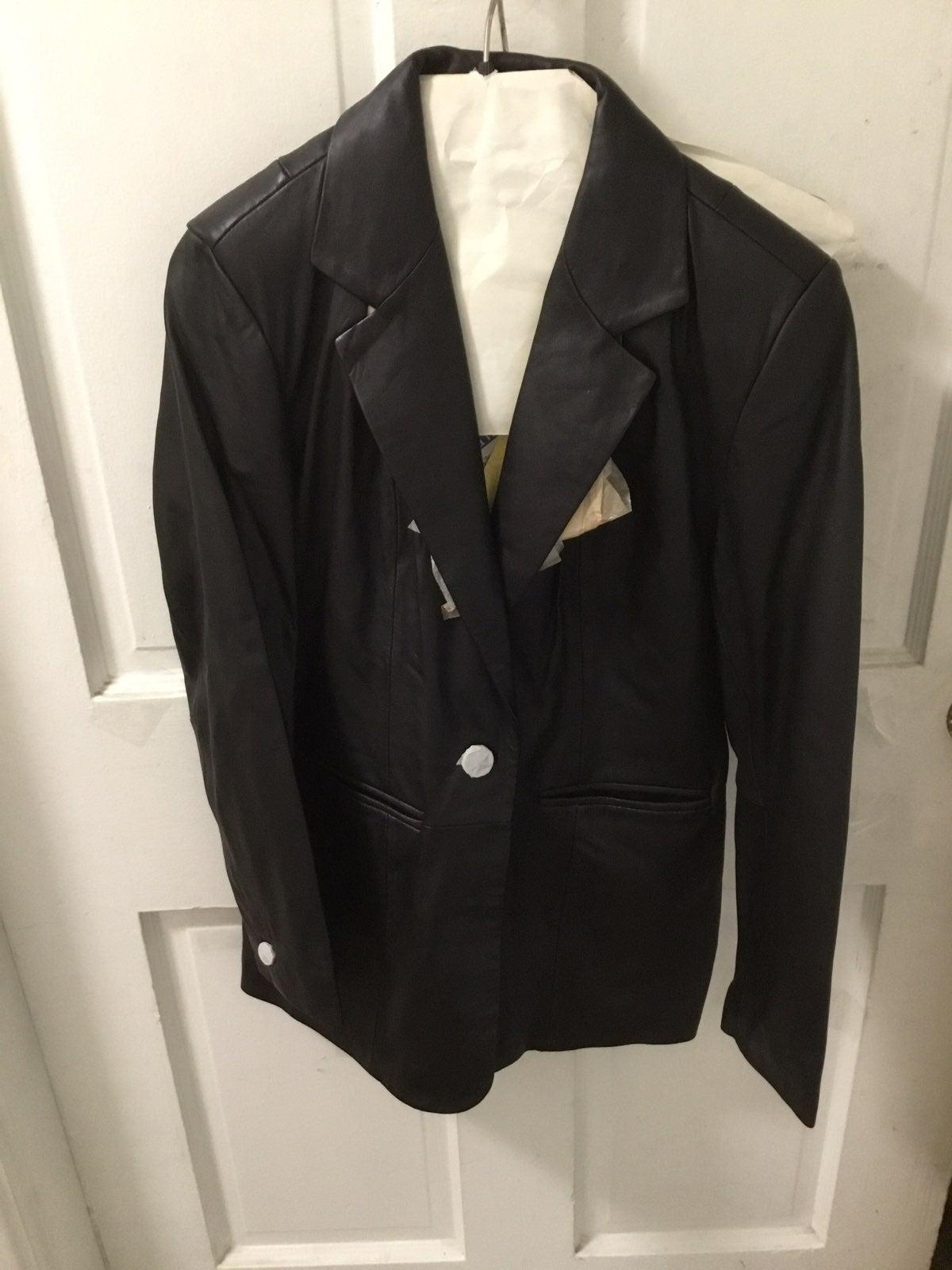 womens leather jacket denim& co