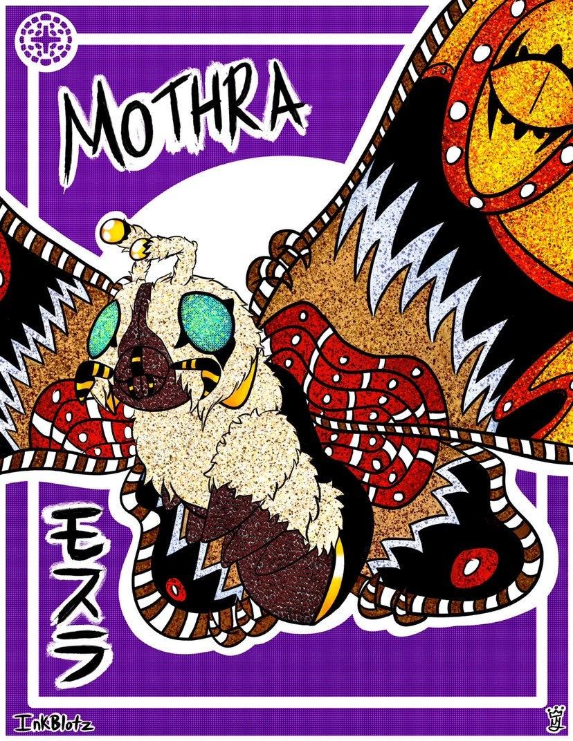 Mothra 4x6 inch poster print