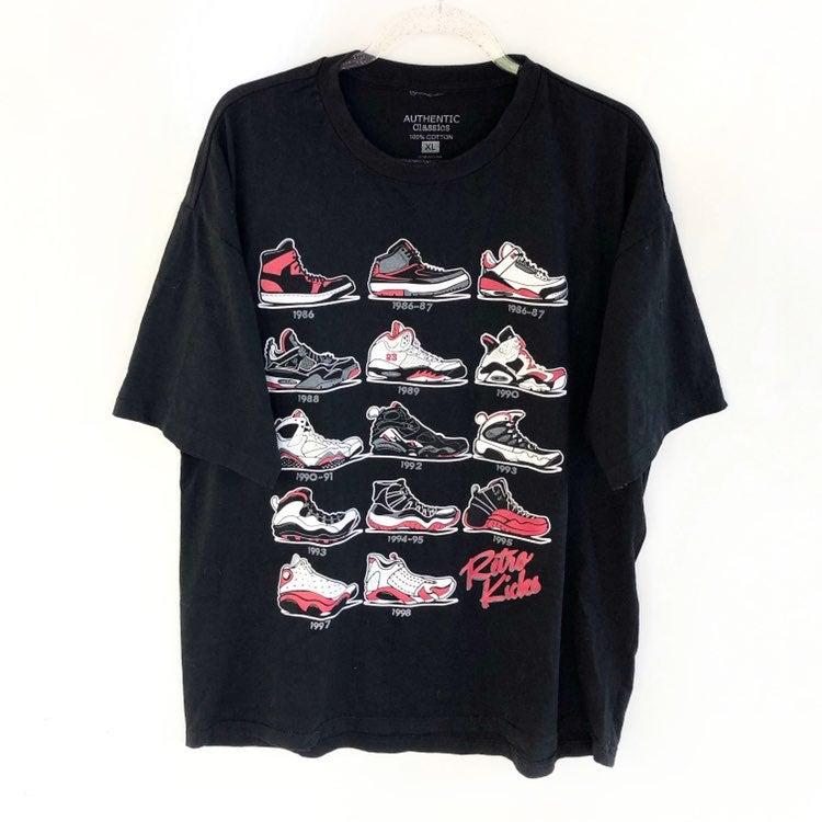 Retro jordan sneakers tee xl