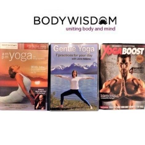 3 Yoga DVDs
