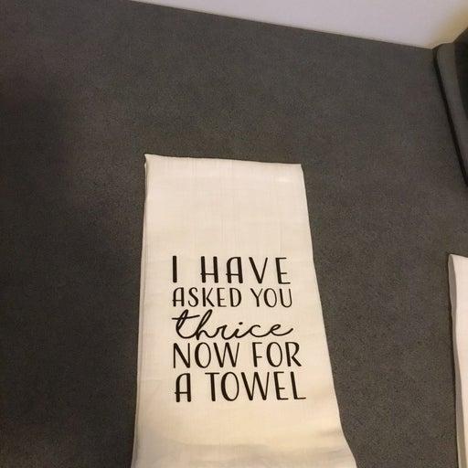 CUSTOM ORDER for TROLL  Kitchen Towels