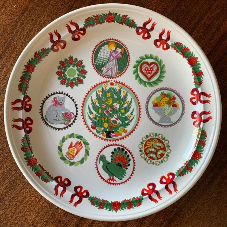 Portmeirion Spirit of Christmas Cake Pla