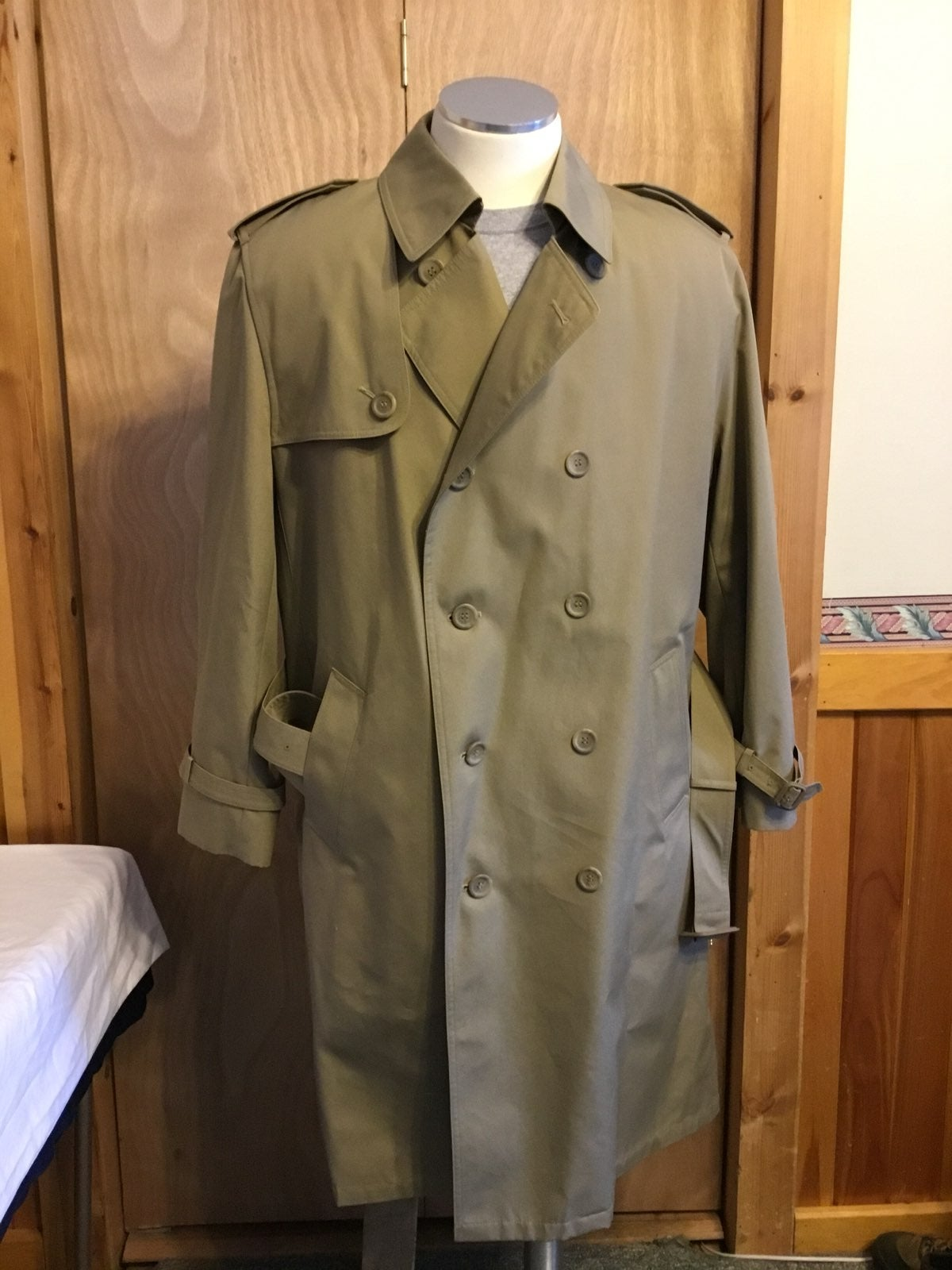 Trench Coat W/ Lining Oleg Cassini 46R m