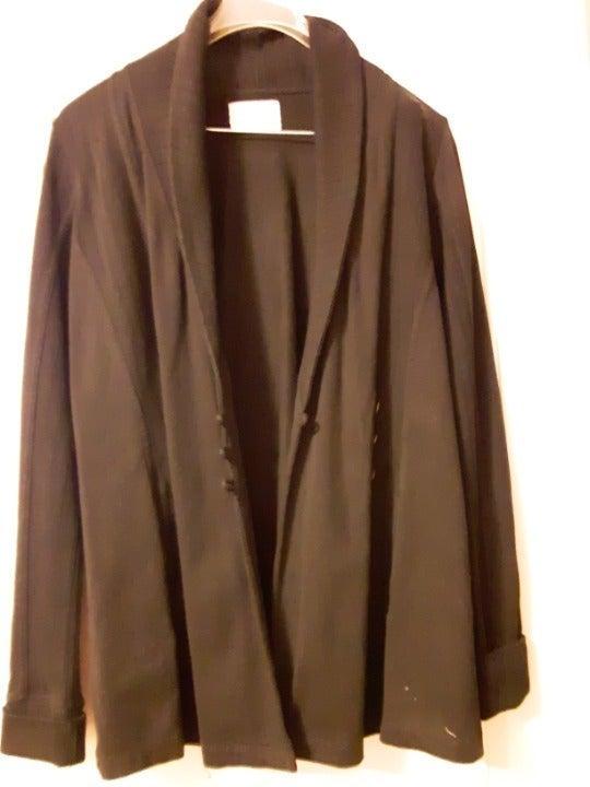 Black stretch sweater blazer jacket/ m
