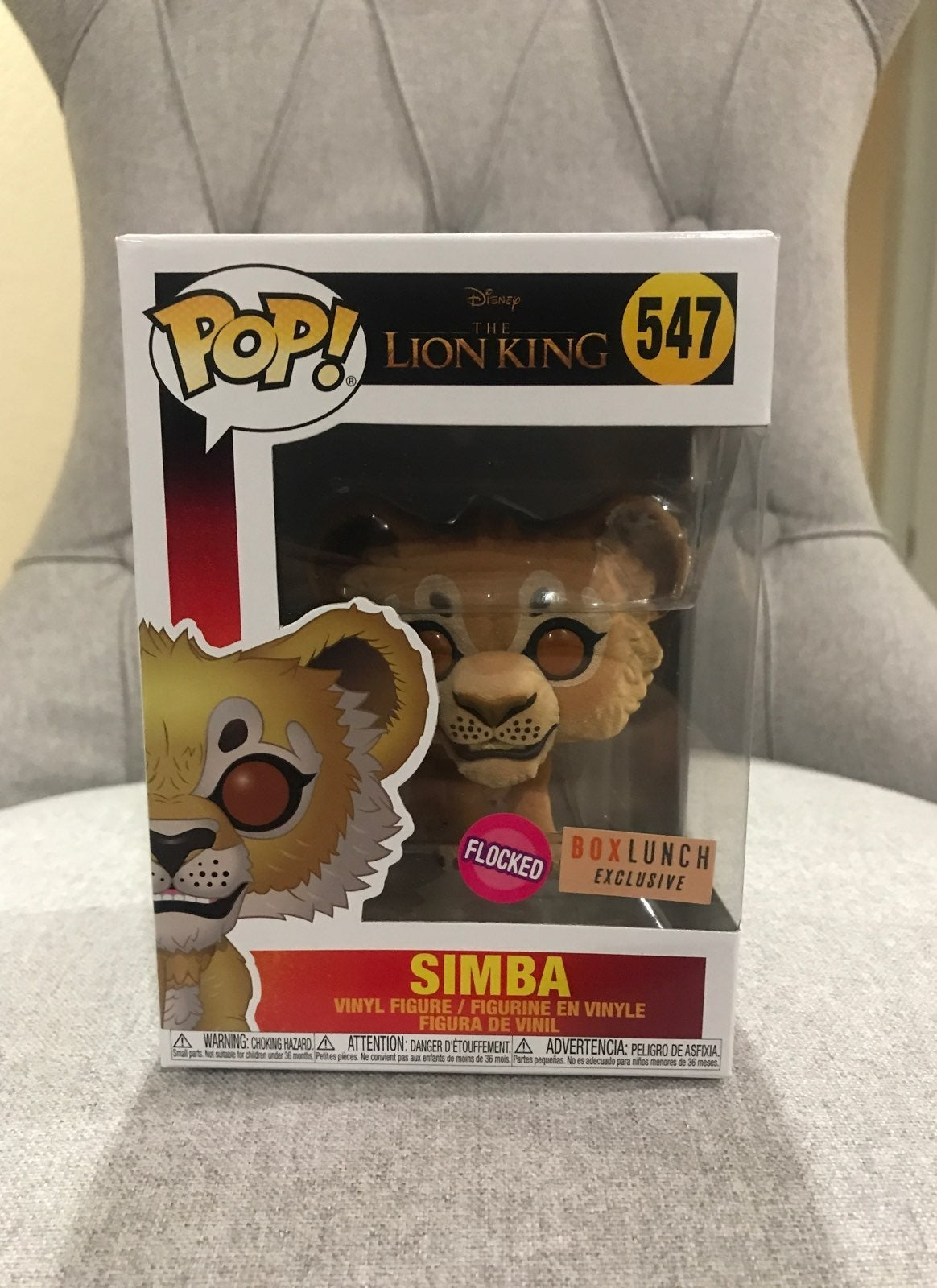 Lion King FLOCKED SIMBA FUNKO POP