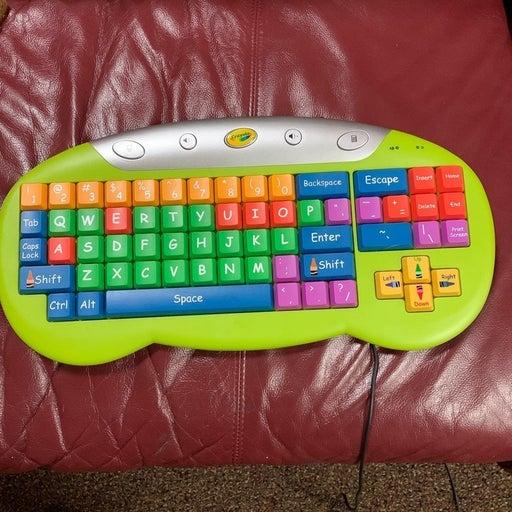 Crayola computer keyboard