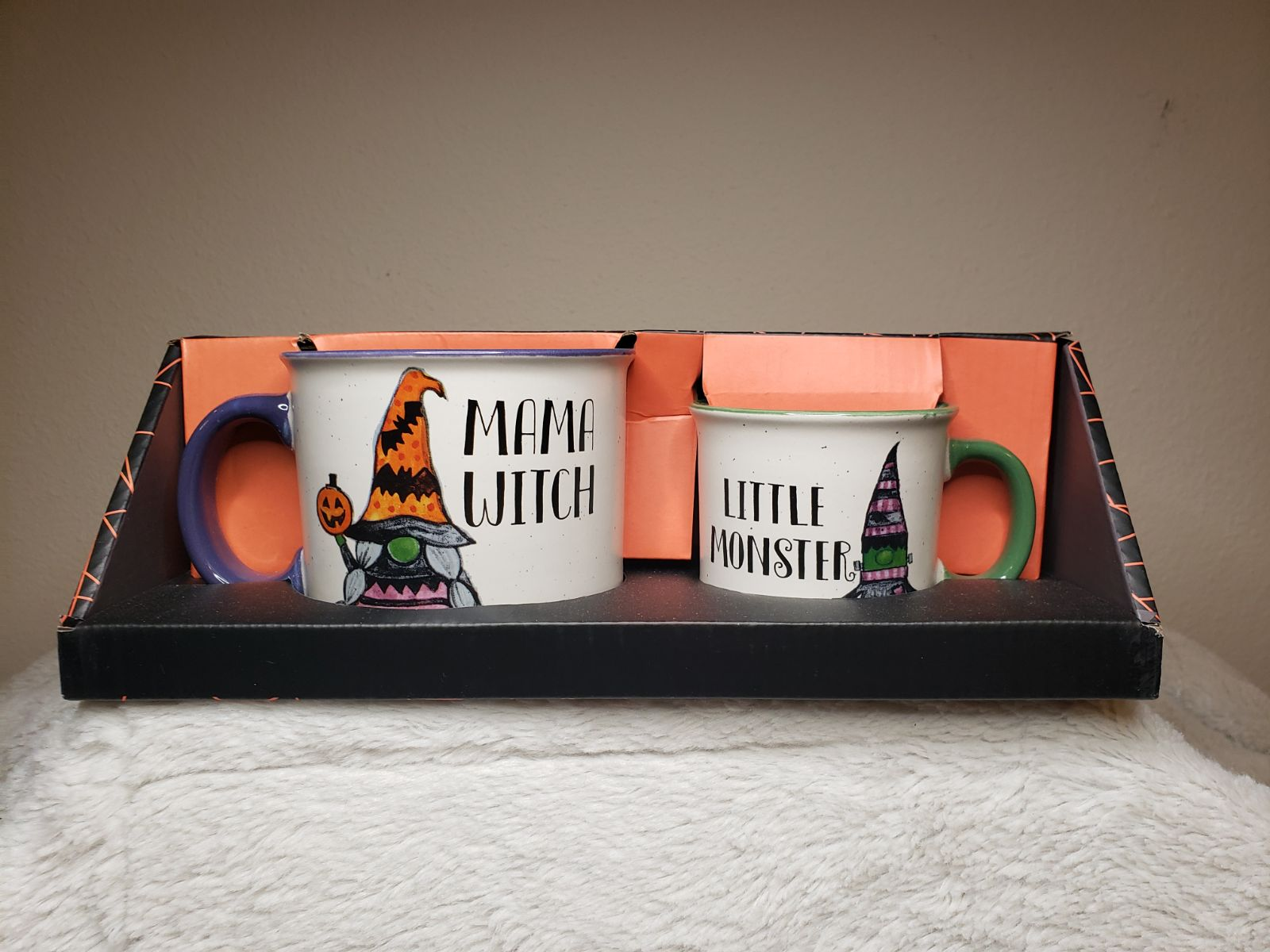 Mama Witch & Little Monster Camping Mugs